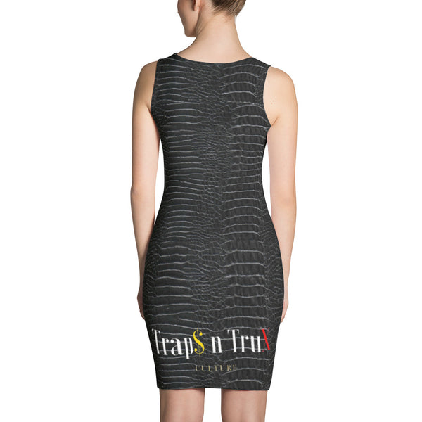 Black Gator Trap$ n TruX Culture ™ Hand Sewn Dress Dress from [shop name]