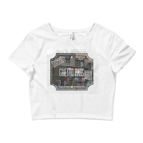 7ondon Ghetto Pass Women's Crop Tee