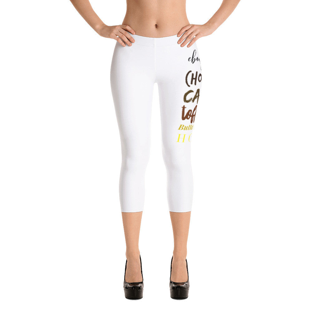 Brown Is Beautiful White Capri Leggings Leggings from [shop name]