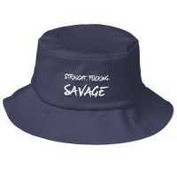 Straight. Fucking. Savage! Old School Bucket Hat