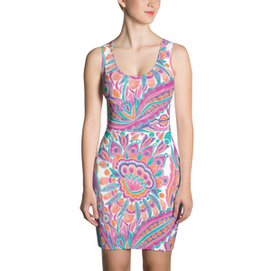 Spring Fashion Paisley Fitted Dress 2.0