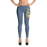 Womens Faux Denim Leggings