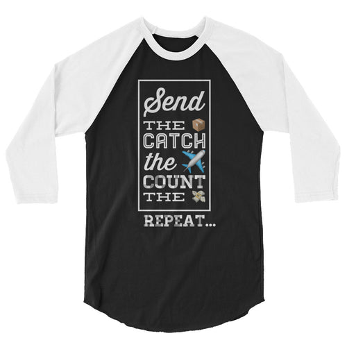 Send. Catch. Count. Repeat. Baseball Tee