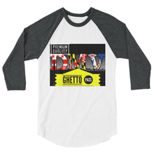 DMV Ghetto Pass 3/4 sleeve Baseball Tee