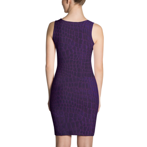 Dark Purple Gatorlife Fitted Dress