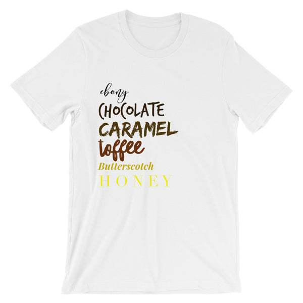 Brown is Beautiful Unisex short sleeve t-shirt T-Shirt from [shop name]