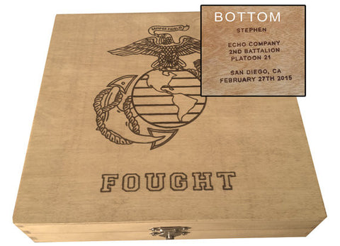 Marine Corps Personalized Keepsake Box - USMC - Boot Camp Graduation Gift