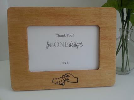 Sign language (ASL) Gift - Friend Frame - 4x6 Photo Frame - Friendship