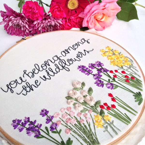 Wildflower Embroidery Tulip Flower