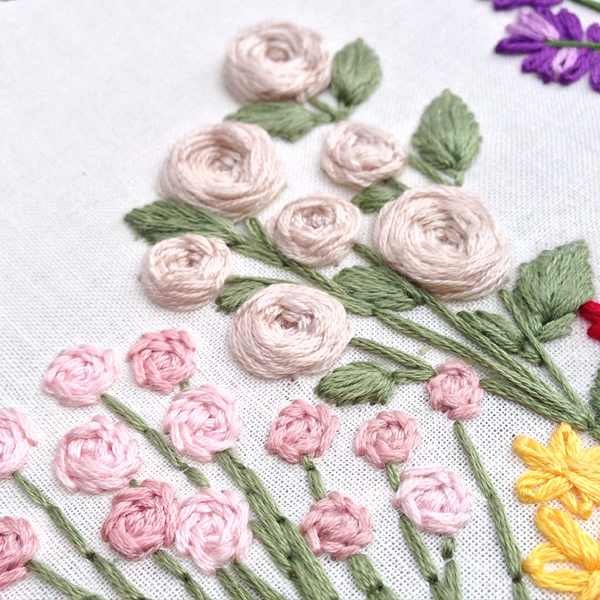 Woven Wheel Rose Embroidery