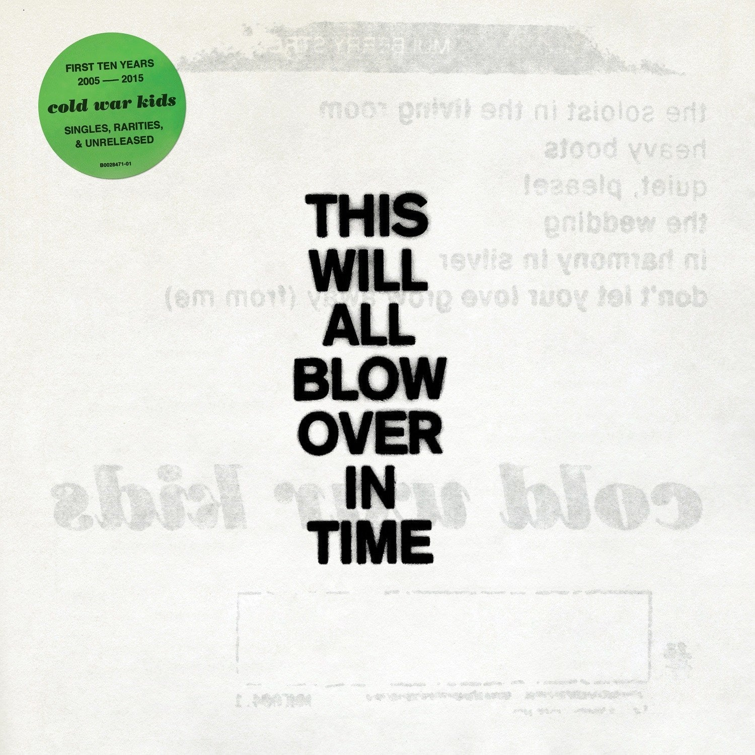 Cold War Kids - This Will All Blow Over In Time (Vinyl 2LP Record)