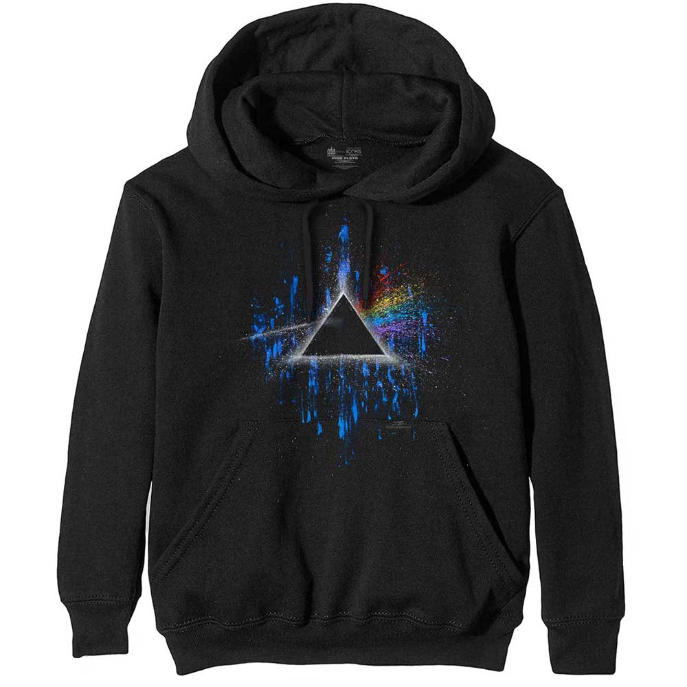 Hoodie - Pink Floyd Dark Side of the Moon Splatter Black
