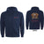 Hoodie - Queen Classic Crest Zippered Blue