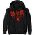 Hoodie - Slipknot Splatter Back Print Black