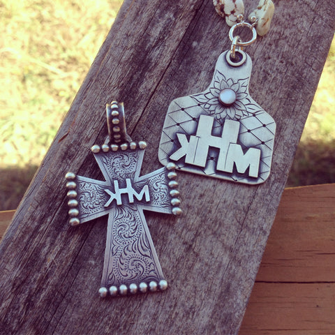 Custom Ear Tag or Cross