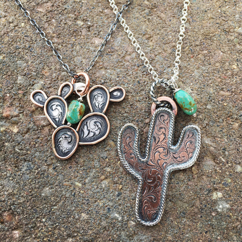 Custom Cactus Necklace