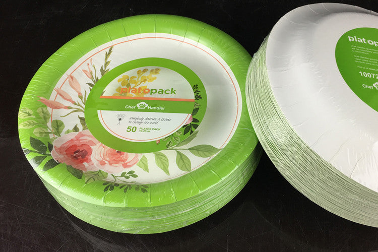 Ultra Paper Plates 10.25\  - 500ct - Miami Design & Order Grease Resistant Microwavable 500 Floral Paper Dinner Plates ...