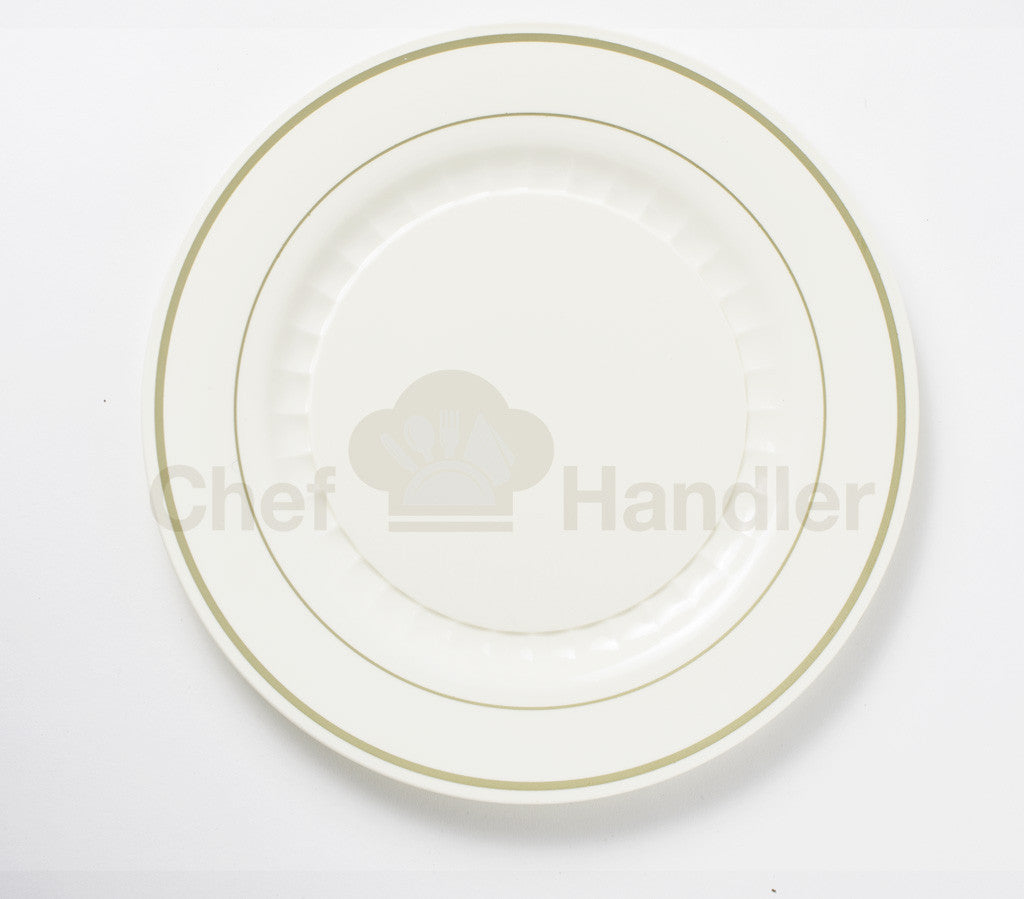 Buy disposable 150 Guest Bundle - Mystique - Beige / Gold party plates \u0026 silverware cutlery & Fancy Disposable Gold Dinner Plate Set in Bulk Online| Buy 150 Guest ...