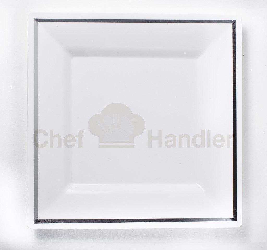 Imperial Classic Square 10.25u201d White Plastic Plates - 50ct  sc 1 st  Chef Handler & White and Clear Premium Plastic Square Dining Plates|Buy Imperial ...