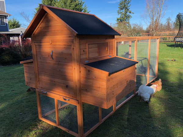 RESORT CHICKEN COOP AND RUN. IN STOCK - LIMITED AVAILABILITY