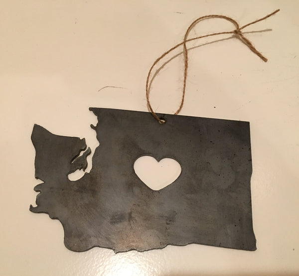 Customized state ornament w/ and w/o heart