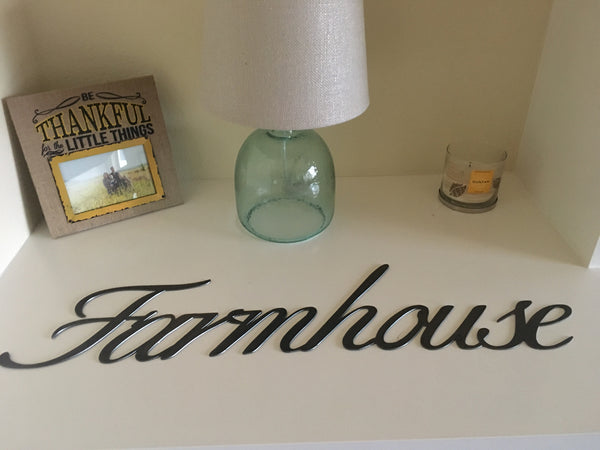 Farmhouse steel sign