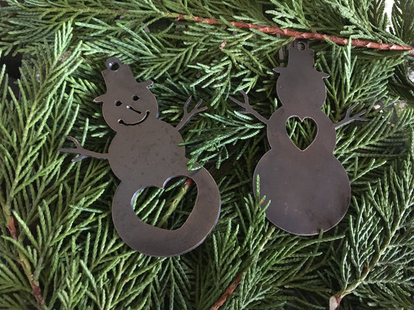 Steel snowman ornaments/ bottle opener