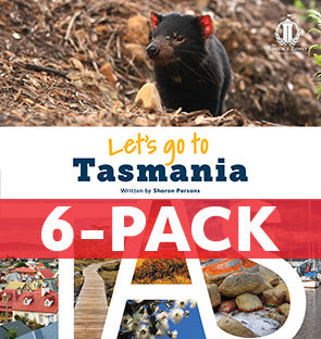 6-pack Let's Go to Tasmania (TAS) Australian States Series (Level 31+)