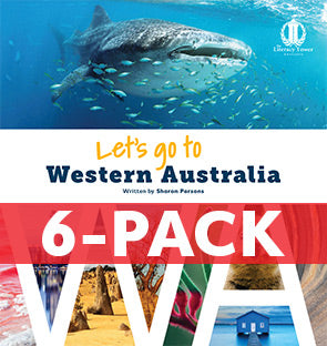 6-pack Let's Go to Western Australia (WA) Australian States' Series (Level 31+)