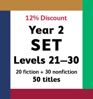 Year 2 Set (Levels 21-30 one copy of all 50 titles – 12% Discount)