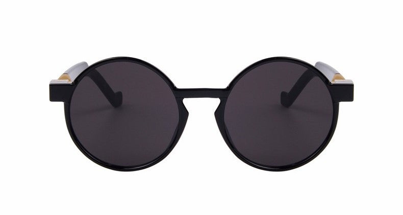 Black Round Unisex Sunglasses
