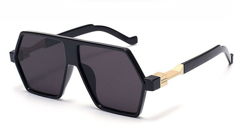 Black and Brown Unisex Sunglasses