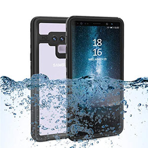 Wildtek DOTPlus Series Samsung Note 9 Waterproof Case | Underwater Snowproof Dirtproof Shockproof with Touch ID | Fully Sealed Cover Waterproof Phone Case | 4.7 Inch Black