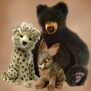Gifts for All Ages | Hansa Stuffed Animals | Cheetah Cub Toy | Jack Rabbit Stuffed Animal | Teddy Bear