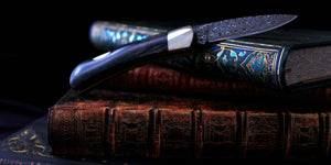 "Damascus 3"" Knife from Santa Fe Stoneworks 