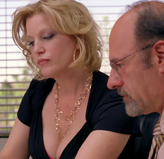 Skyler White Playing up Sexy Dumb Blonde for IRS Agent in Breaking Bad