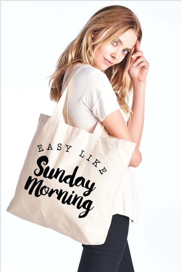 Easy Like Sunday Morning Tote