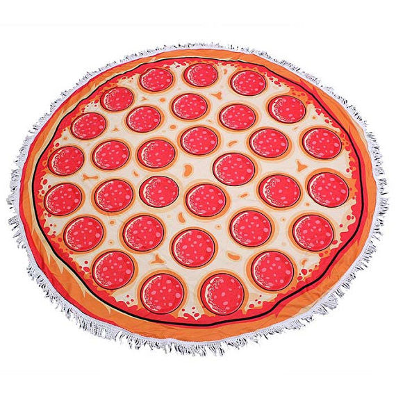 Pizza Terry Cloth Roundie Terry Towel