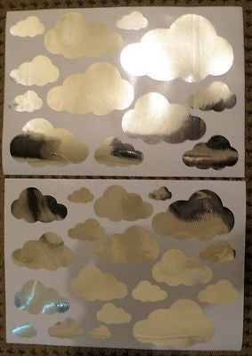Mirror Cloud Clouds Wall Stickers
