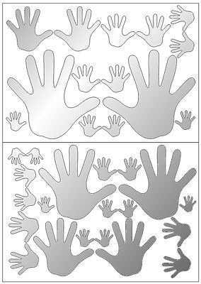 Mirror Hands Wall Stickers