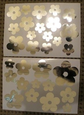 Mirror Flower Flowers Wall Stickers