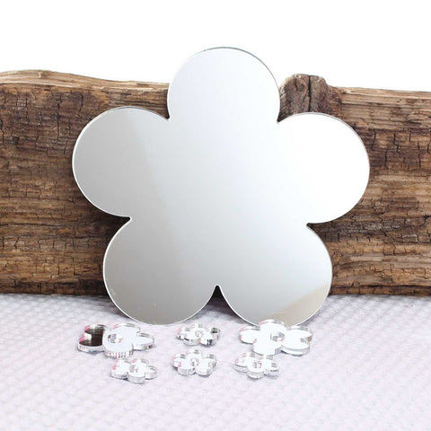 Mirror Acrylic Flower Wall Art Set