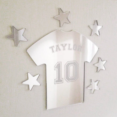 Personalised Mirror Football T-shirt Set