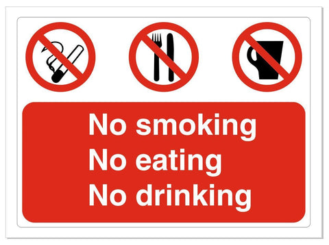 No Smoking Eating Drinking