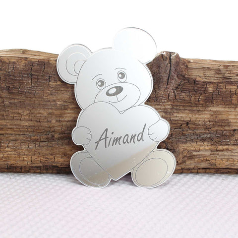 Teddy Bear Heart Mirror Set