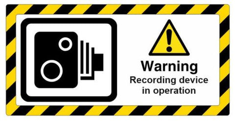 CCTV Warning Recording device
