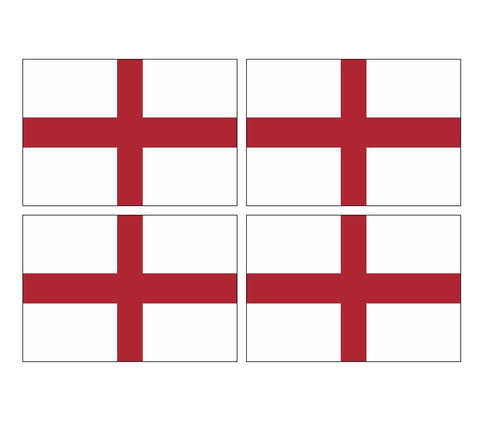 4 English England Flags