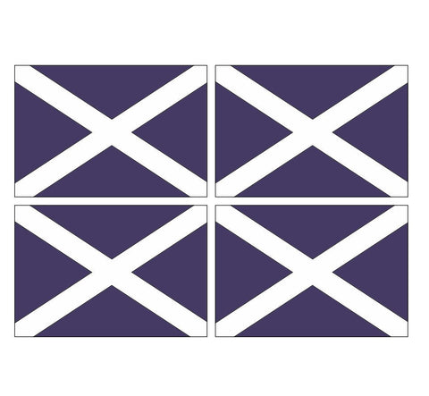 4 Scottish Scotland Flags