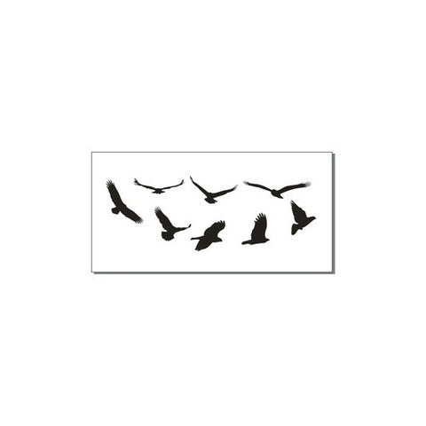2 x Temporary Tattoo Bird Silhouette