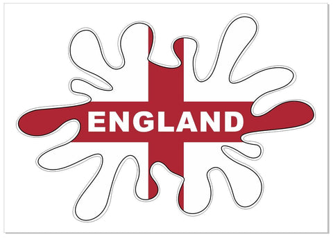 England Flag Splat